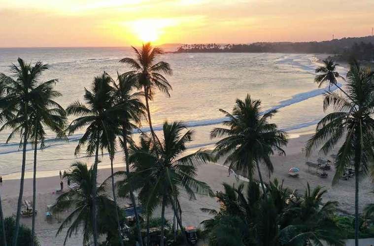 Sunset in Dickwella Sri Lanka