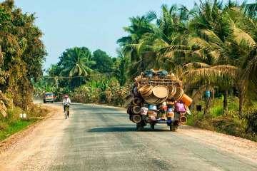 Battambang truck on road