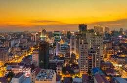 Phnom Penh city view