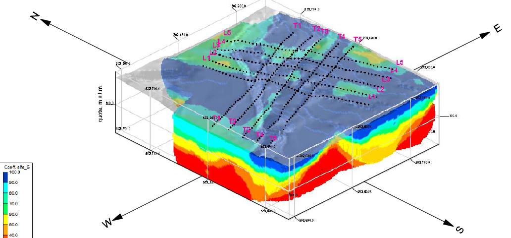 Attenuazione anelastica: modello 3D