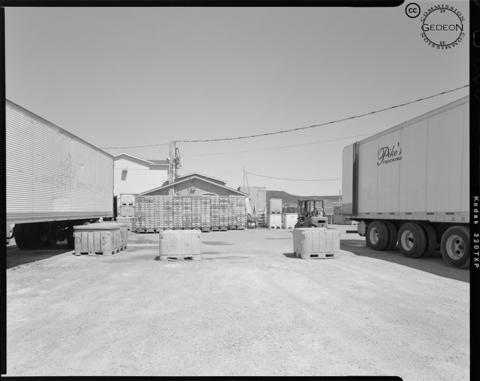 Trucks parked, Rocky Harbour