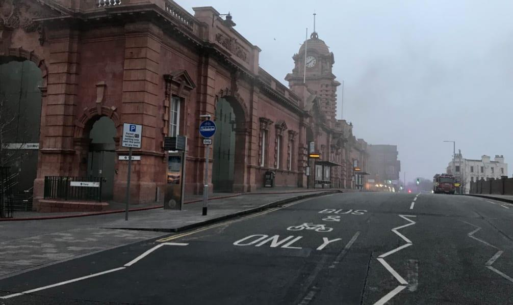 Huge fire closes Nottingham train station today