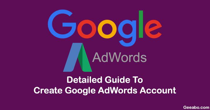 Create Google AdWords Account