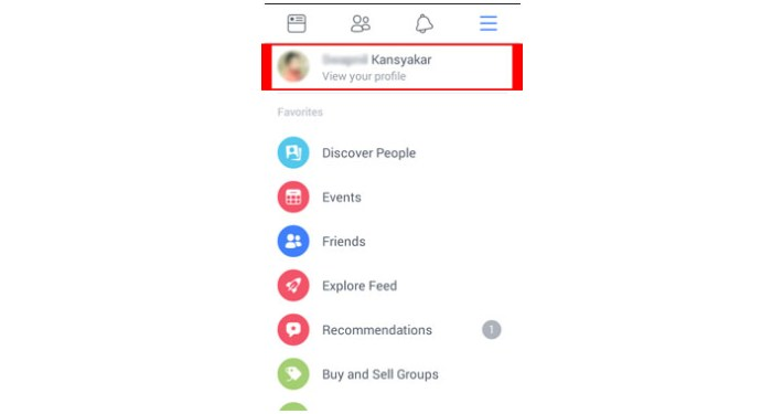 View your profile
