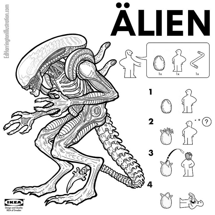 Ed Harrington - Pop Culture Ikea Alien
