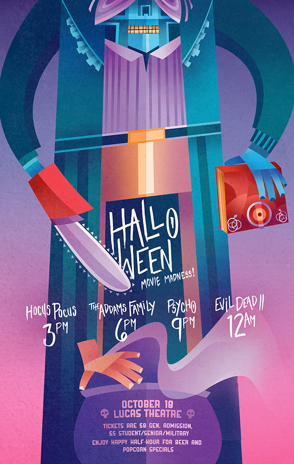 Sean Loose - Lucas Theatre Event Posters Halloween