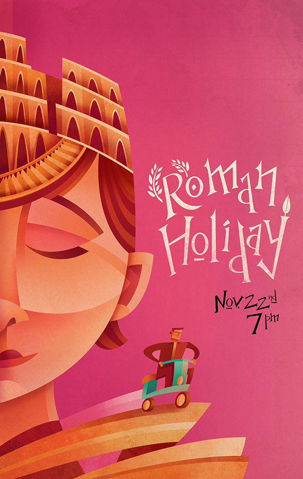 Sean Loose - Lucas Theatre Event Posters Roman Holiday