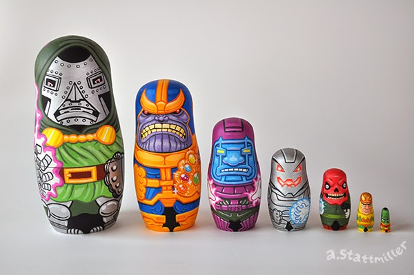 Andy Stattmiller - Nesting Dolls Marvel Villains
