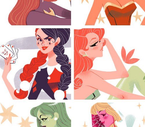 Sibylline – Super Heroines Sketches