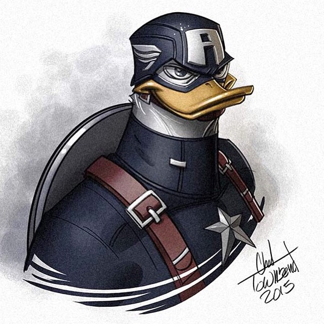 Chad Townsend - Ducktales Mash Ups Captain America