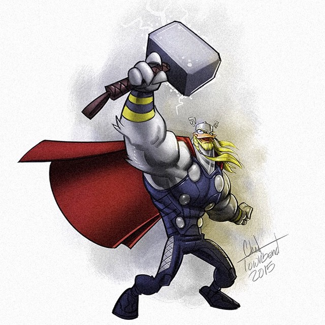 Chad Townsend - Ducktales Mash Ups Thor