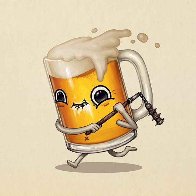 Mike Mitchell - Exclusive San Diego Comic Con Prints - Two-handed Flail
