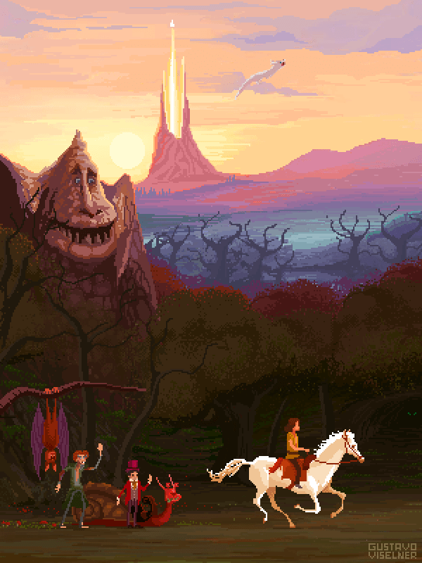Gustavo Viselner - Cult Movies Pixel Art Neverending Story