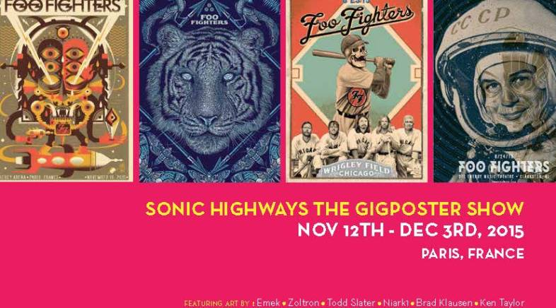 Sonic Art Ways – Official Foo Fighters Art Show – French Paper Gallery