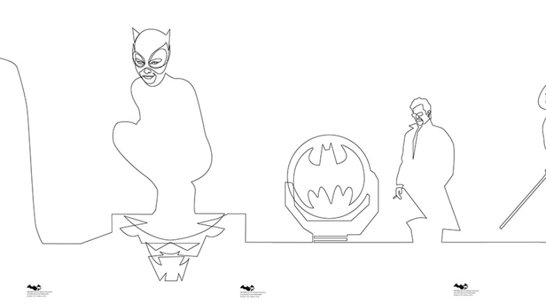 Qui Be – One Line Batman Prints for Geek-Art & French Paper Art Club
