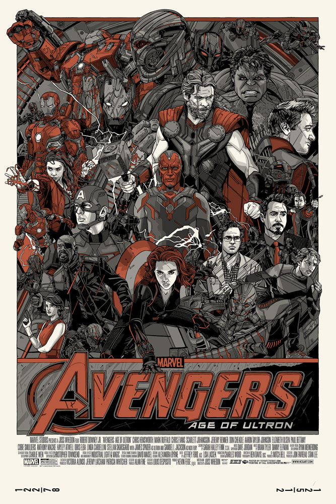 Tyler Stout - Avengers- Age of Ultron Cast & Crew Variant