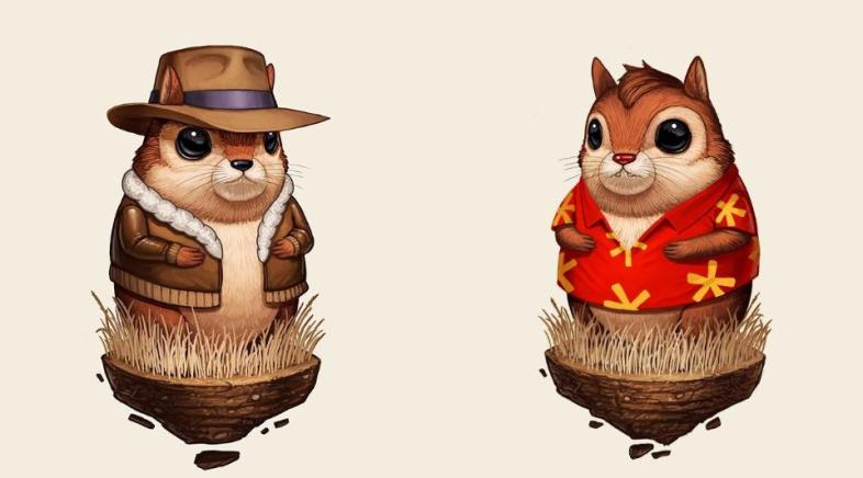 Mike Mitchell – Chipmunks with Hawaïan Shirts and Jackets