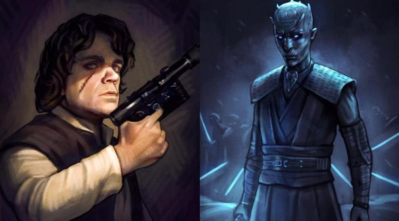 Game of Thrones Heroes in the Star Wars Universe by Andrew Tran