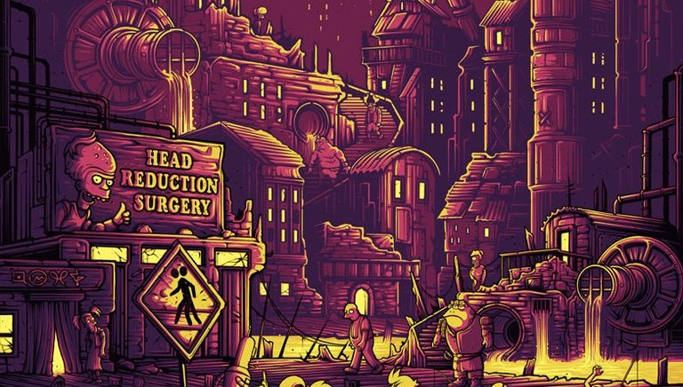 Dan Mumford – Futurama Prints for Dark Ink Art