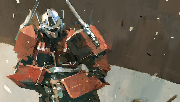 Optimus Prime Limited Print by Ashley Wood