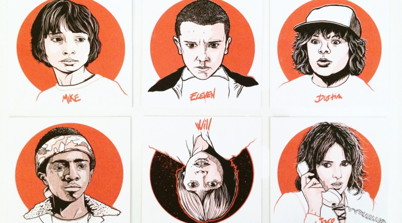Get Yourself the Stranger Things Mini-Prints Set by Patrick Connan and Do A Good Deed !