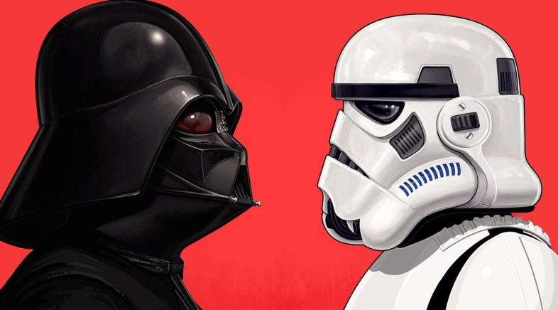 Vader and Stormtrooper Portraits by Mike Mitchell for Mondo