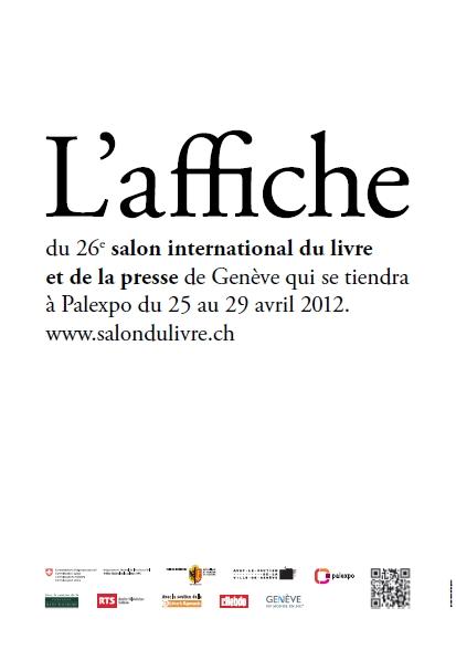 L'affiche du Salon international du Livre et de la Presse de Genève
