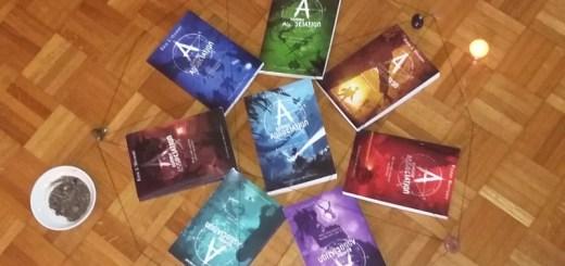 Les volumes de la série mis en scène