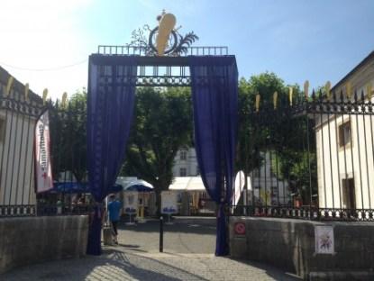 La Porte du château de Delémont redécorée aux couleur de Titeuf