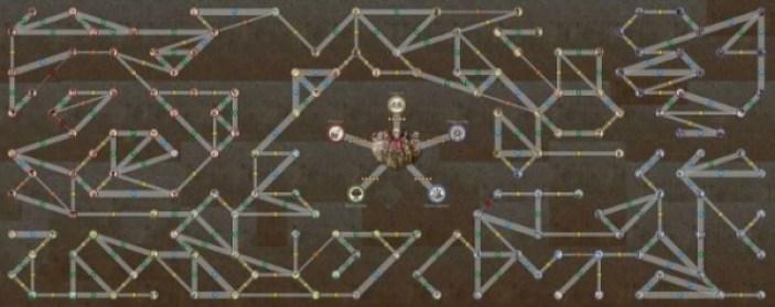 Le sociogramme de Xenoblade Chronicle permet de suivre les interractions entre les différents PNJ qui peuplent Bionis. Celui-ci se complexifie en même temps que les quêtes annexes se développent et donne accès à de nouvelles missions au fur et à mesure de l'avancé du joueur