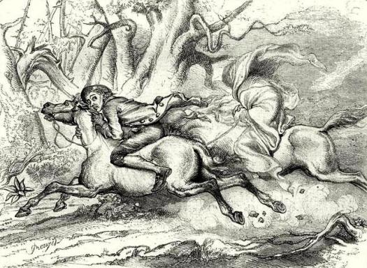 Une gravure de 1849 montrant Ichabod (source Wikipedia)