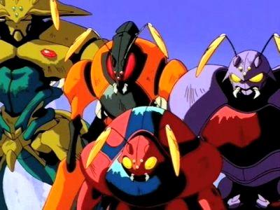 Les Bugroms, race insectoïde malveillante, est l'un des éléments qui est resté semblable quelle que soit la version de la série