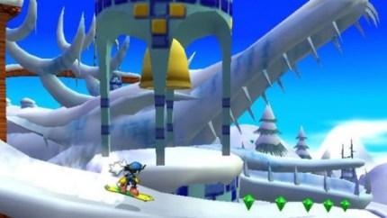 Les niveaux de surf ou de snow permettent de varier le gameplay mais sans réellement augmenter la difficulté du jeu.