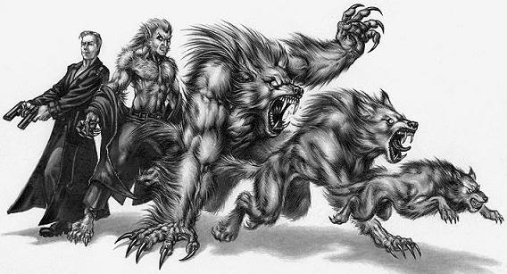 Les différentes formes du lycanthrope