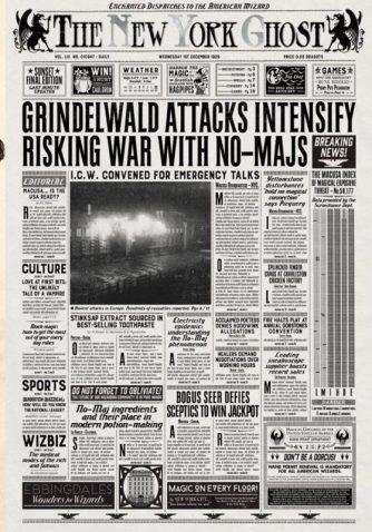 Journal parlant de Grindelwald - les animaux fantastiques
