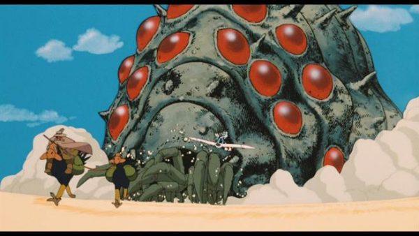 L'un des Omu - le roi des insectes qui peuplent la Fukaï - en pleine charge meurtrière