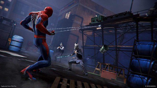 Spider-man combats