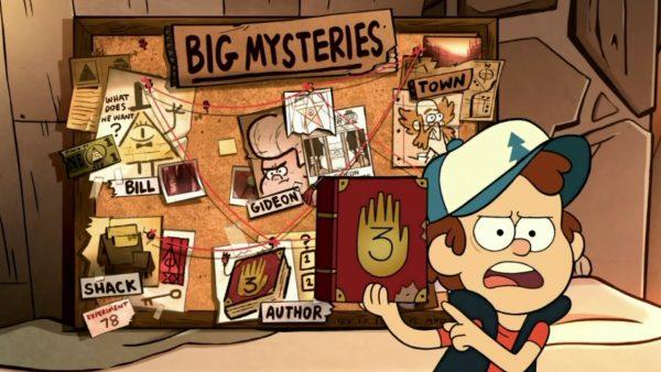 La recherches des secrets de Gravity Falls au cœur de l'intrigue