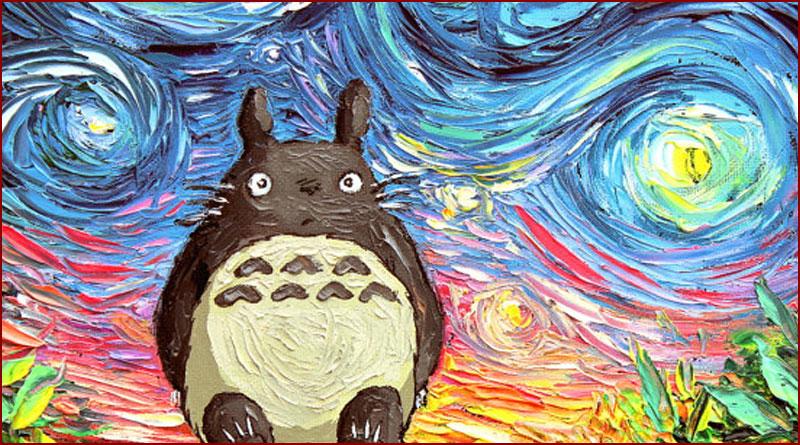 Aja Kusick, une artiste, reprend les peintures de Van Gogh en y ajoutant des personnages de la culture geek et japonisante !