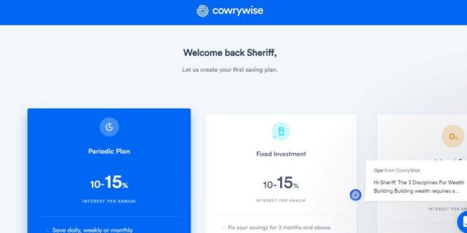 cowrywise savings