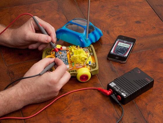 Medidor de voltaje digital para iPhone