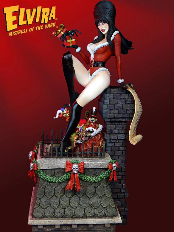 Elviras Scary Christmas Exclusive Maquette