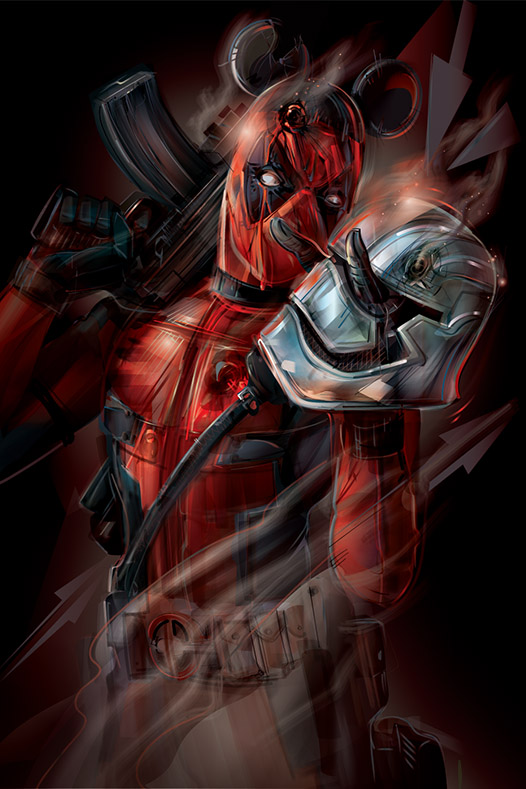 Force Awakens Deadpool Art GeekAlerts