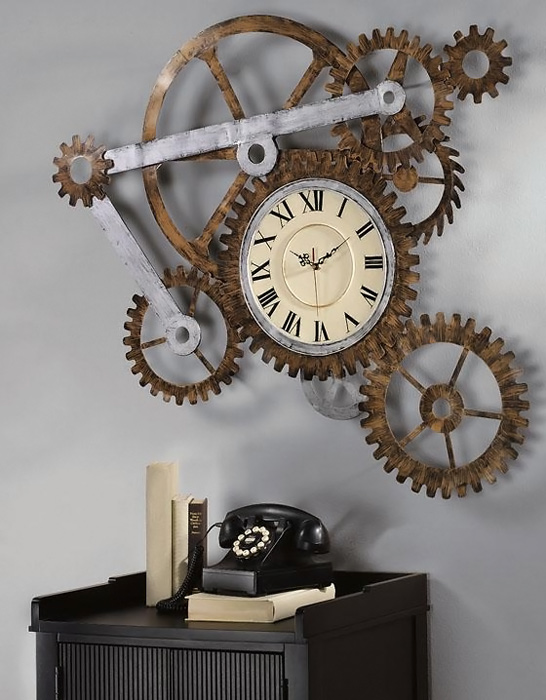 Gears Wall Art Clock
