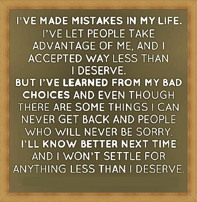 The past is in the past but only if you have learnt and acted on the mistakes.