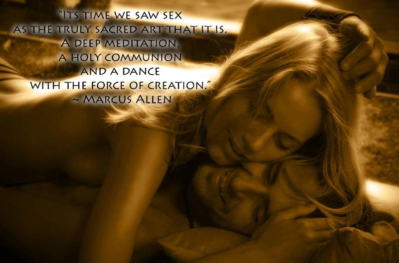 Meditation and sex. see it yourself
