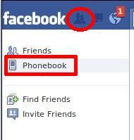 Facebook Phonebook Link