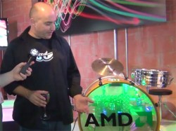 Chris Hook Shows off the AMD Bass Drum