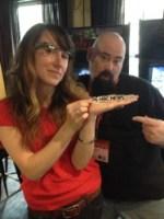Natalia Villalobos with Google Glass
