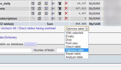 Optimize and Repair tables